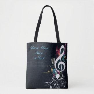 Musikalische Spalten-Anmerkung abstrakt Tasche