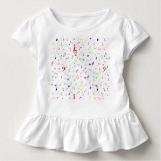 Musikalische Symbole in den Regenbogen-Farben Kleinkind T-shirt