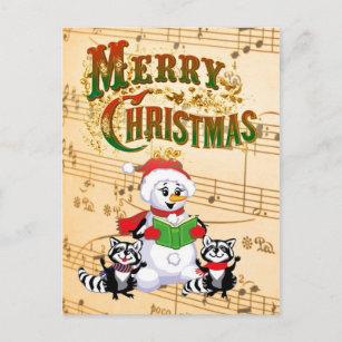 Weihnachtsgrüße Musikalisch.Lustige Weihnachtsgrüße Postkarten Zazzle De