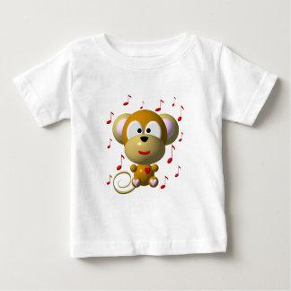 Musikalischer Affe Baby T-shirt