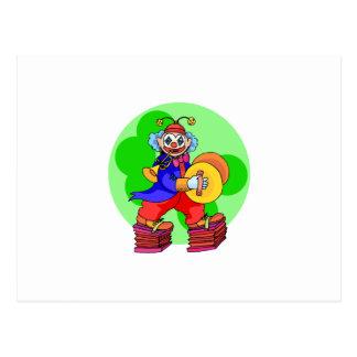 Musikalischer Clown Postkarte