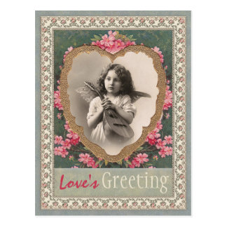 Musikalischer Engel in einem Goldherz CC0787 Postkarte