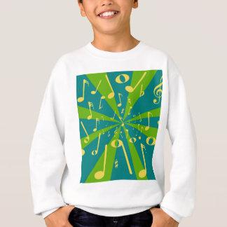 Musikalischer Geräusch-Hintergrund Sweatshirt