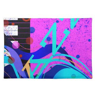 Musikalischer Jazz-Art-Hintergrund Stofftischset