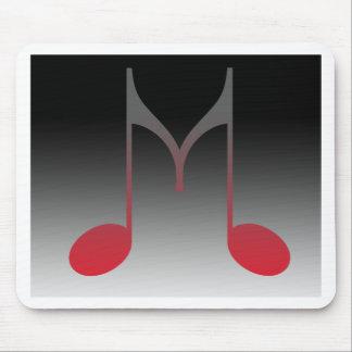 """Musikalischer """"m-"""" Buchstabe Mousepads"""
