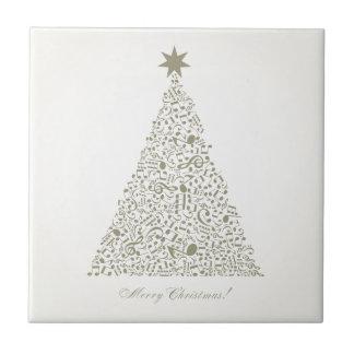 Musikalischer Weihnachtsbaum Keramikfliese