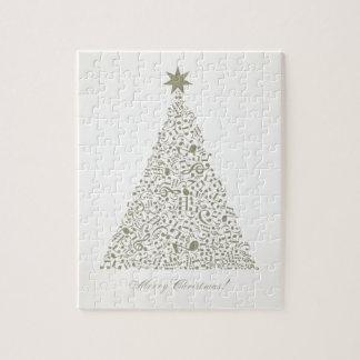 Musikalischer Weihnachtsbaum Puzzle