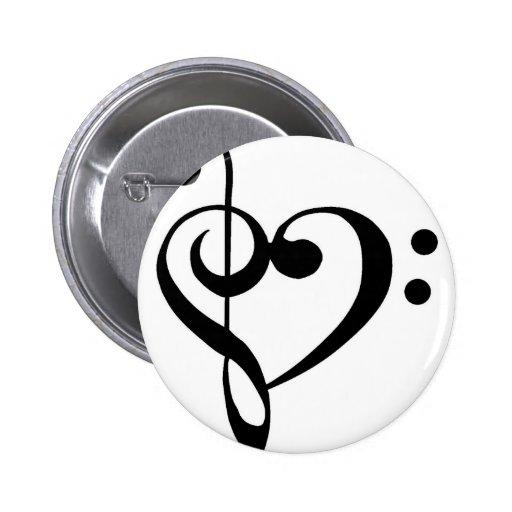 Musikalisches Herz Button