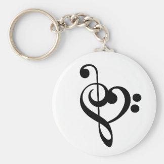 Musikalisches Herz: Entwirrte dreifache und Schlüsselanhänger