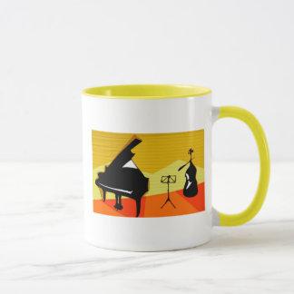 Musikalisches Klavier Geige Tasse