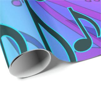 Musikalisches Muster-träumerischer Wirbler Geschenkpapier