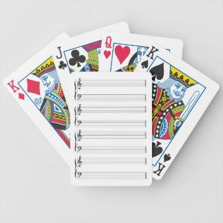 Musikalisches Personal und Dauben Bicycle Spielkarten