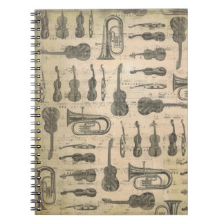 Musikanmerkung Muster-Musik-Thema-Notizbuch Spiral Notizblock