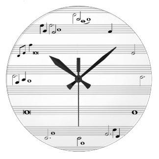 Musikanmerkungs-Stempeluhr - Schwarzweiss Uhr