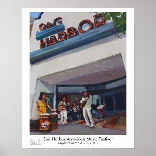 Musiker am Senkungs-Hafen-Kino Plakat