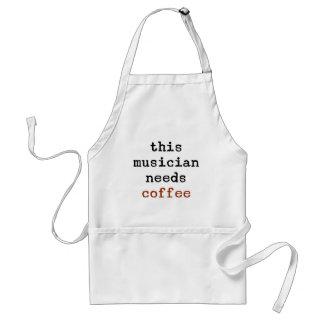 Musiker benötigt Kaffee Schürze