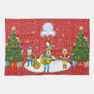 Musiker-Elf-Band-WeihnachtsGeschirrtuch Geschirrtuch