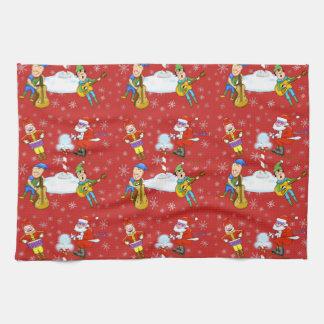 Musiker-Elf-WeihnachtsGeschirrtuch Handtuch