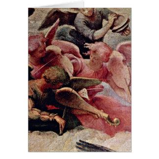 Musiker-Engel (obersteslinks) durch LorenzoLotto Grußkarte