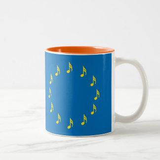 Musiker für europäisches Gewerkschafts-Tasse Zweifarbige Tasse