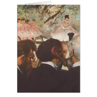 Musiker im Orchester durch Edgar Degas-Karte Karte
