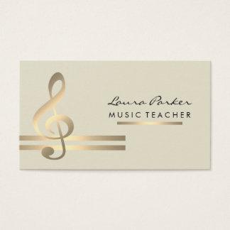 Musiker-Musik-Lehrer mit musikalischen Anmerkungen Visitenkarte