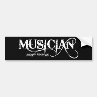 Musiker-… suchende Groupien! Autoaufkleber