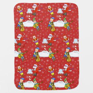 Musiker-Weihnachtself-Baby-Decke Babydecke