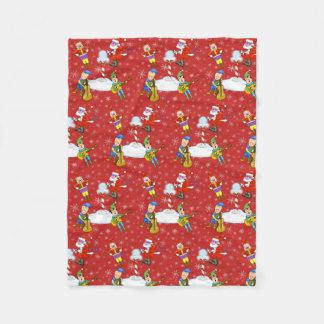 Musiker-Weihnachtself-Fleece-Decke Fleecedecke