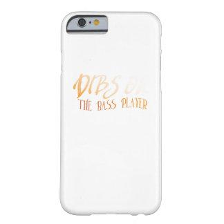 Musikfreund-Bass-Gitarren-Geschenke auf dem Barely There iPhone 6 Hülle