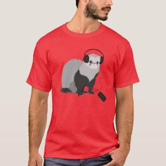 Musikfreund-Frettchen-Männer T-Shirt
