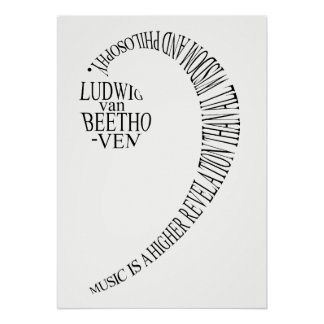 Musikfreund-Geschenk-Plakat - Poster
