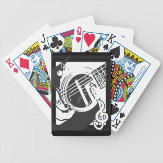 Musikfreund-Gitarren-Spielen Schwarzweiss Bicycle Spielkarten