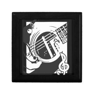 Musikfreund-Gitarren-Spielen Schwarzweiss Erinnerungskiste
