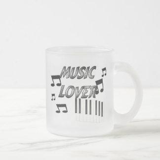 Musikfreund Matte Glastasse