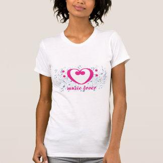 Musikfreundentwurf, mit rosa Bassschlüsselherzen T-Shirt