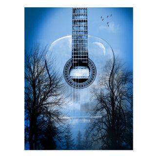 Musikgitarre Postkarte