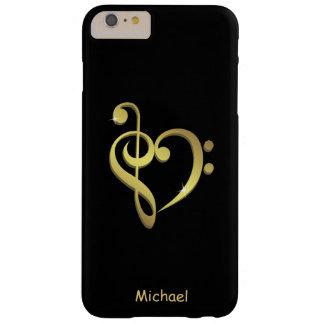 Musikherz-Liebe des dreifachen Clef und des Barely There iPhone 6 Plus Hülle