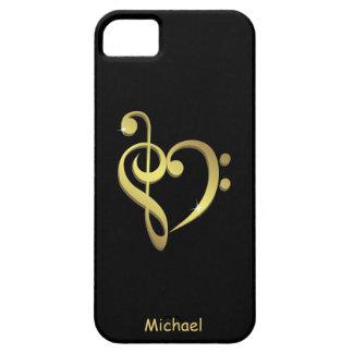 Musikherz-Liebe des dreifachen Clef und des iPhone 5 Hülle