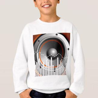 Musikillustration mit Lautsprecher Sweatshirt