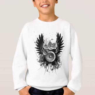 Musikillustration mit Lautsprecher und Flügeln Sweatshirt