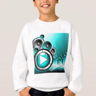 Musikillustration mit Spielknopf und -Lautsprecher Sweatshirt