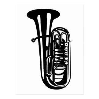 Musikinstrument Tuba - Musikerentwürfe Postkarte