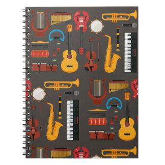 Musikinstrumentanmerkungsbuch Notizblock