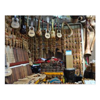 Musikinstrumente - Machu Picchu - Perú Postkarte