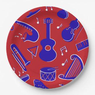 Musikinstrumente Pappteller