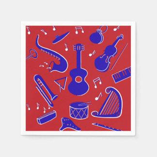 Musikinstrumente Servietten