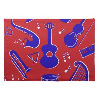 Musikinstrumente Tischset