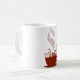 Musikinstrumente und Anmerkungs-Tasse Kaffeetasse