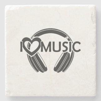 Musikkopfhörer der Liebe I Steinuntersetzer